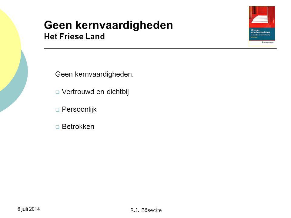 Geen kernvaardigheden Het Friese Land