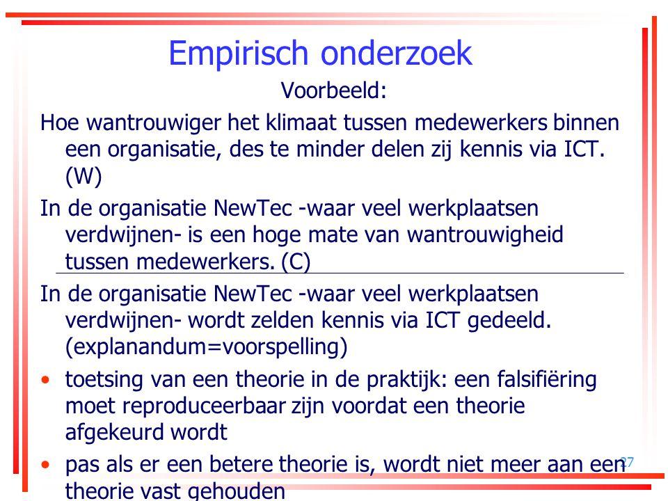 Empirisch onderzoek Voorbeeld: