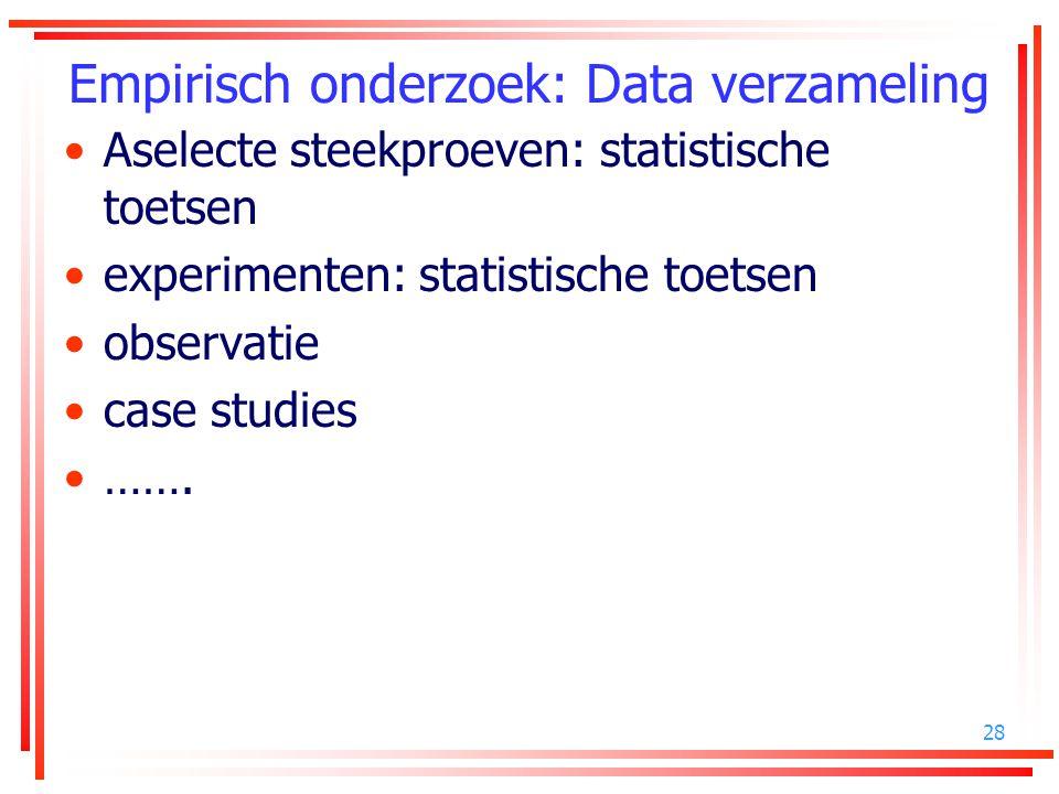 Empirisch onderzoek: Data verzameling