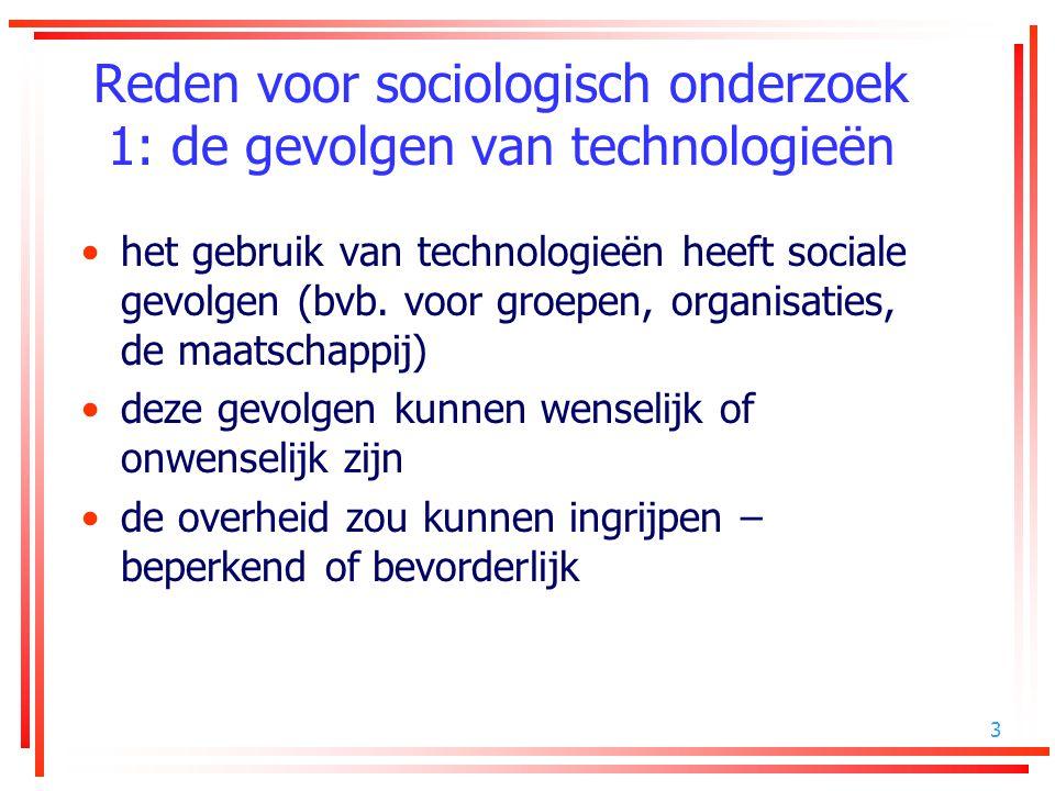 Reden voor sociologisch onderzoek 1: de gevolgen van technologieën