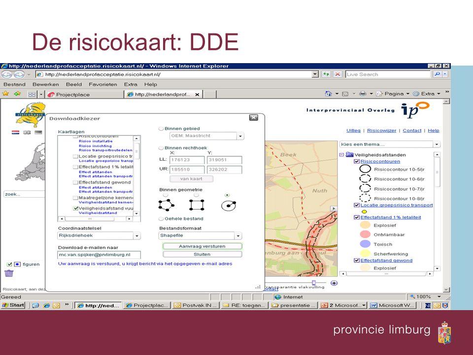 De risicokaart: DDE