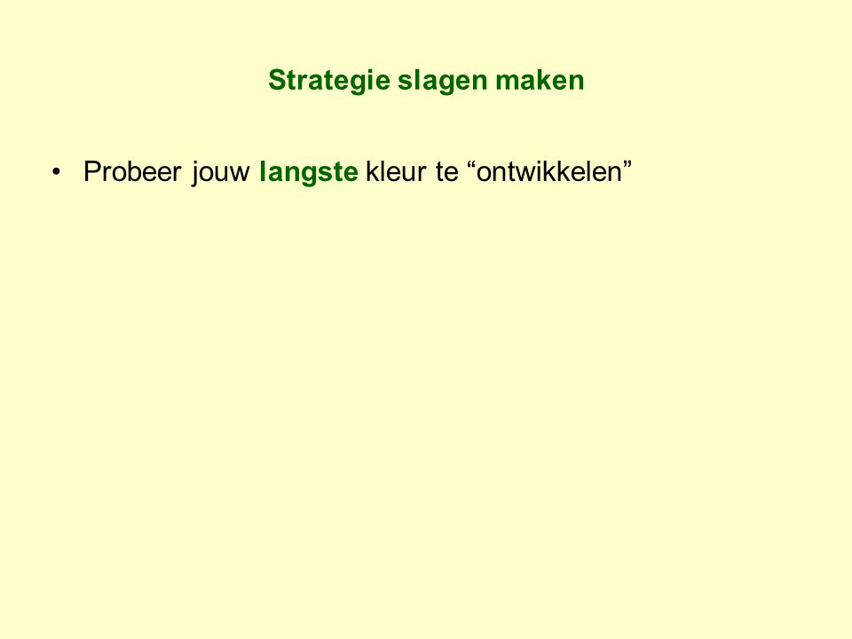 Strategie slagen maken