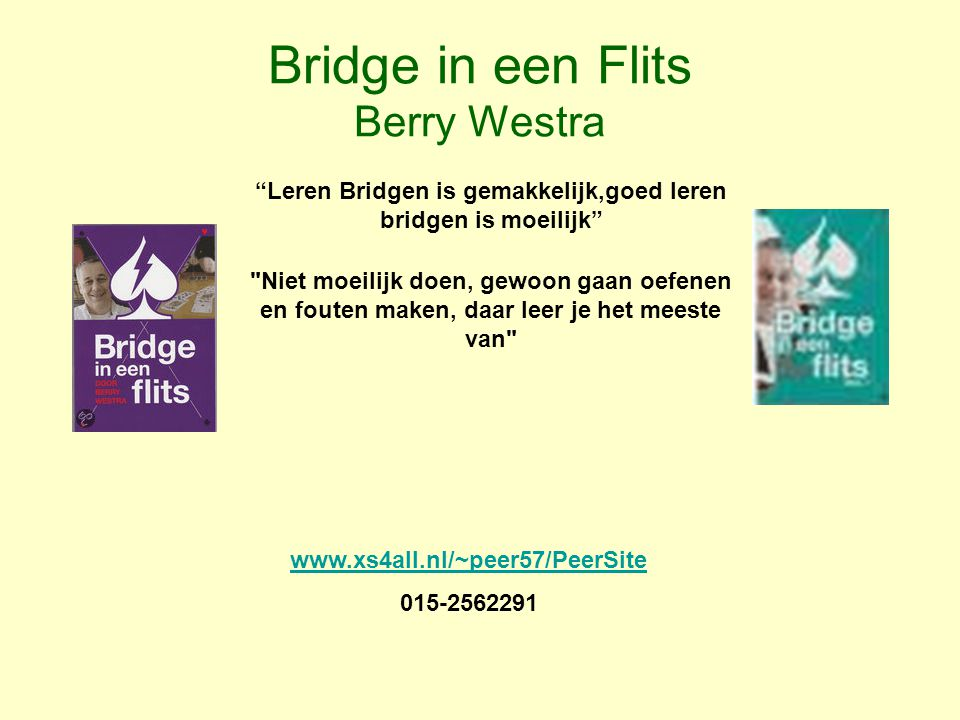 Bridge in een Flits Berry Westra