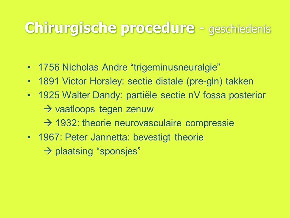 Chirurgische procedure - geschiedenis