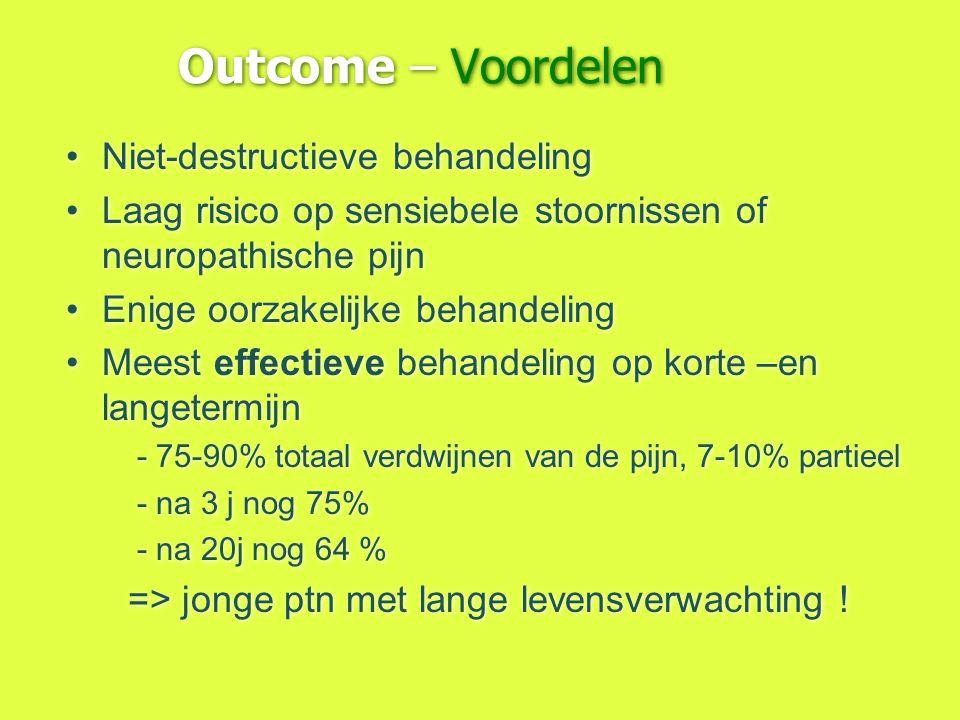 Outcome – Voordelen Niet-destructieve behandeling