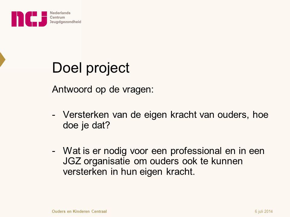 Doel project Antwoord op de vragen: