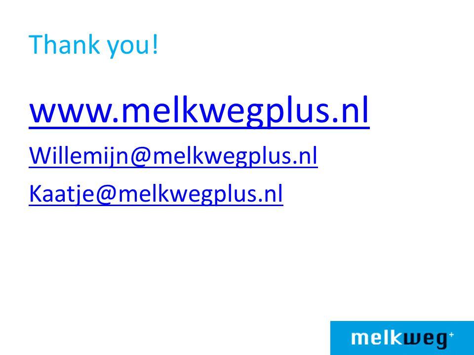 www.melkwegplus.nl Thank you! Willemijn@melkwegplus.nl