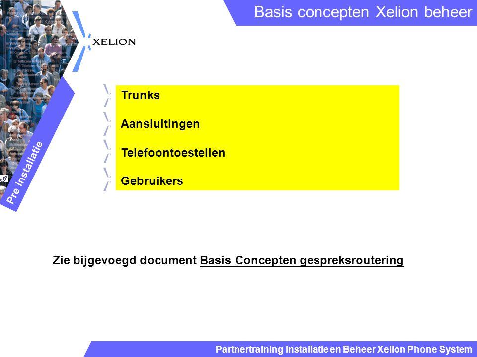 Basis concepten Xelion beheer