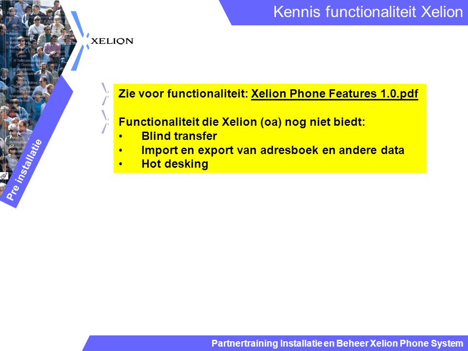 Kennis functionaliteit Xelion