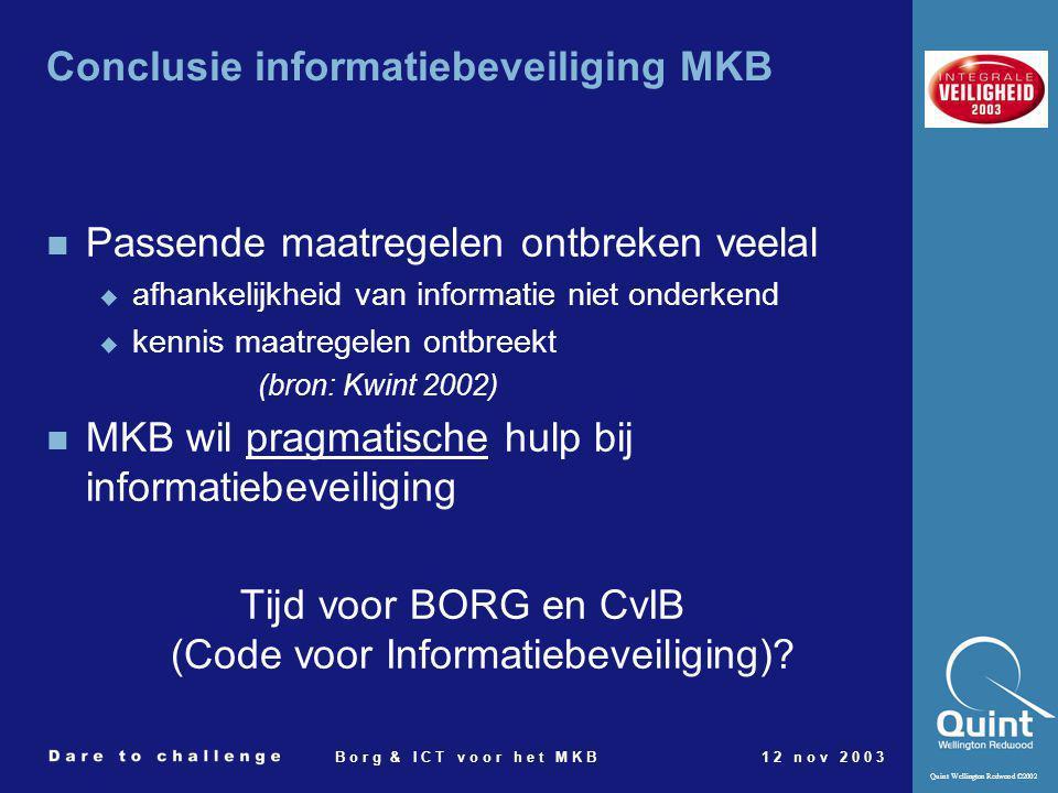 Conclusie informatiebeveiliging MKB