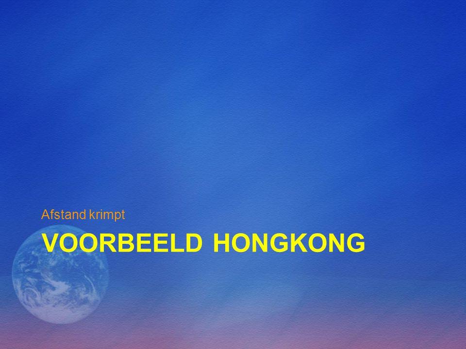 Afstand krimpt Voorbeeld Hongkong