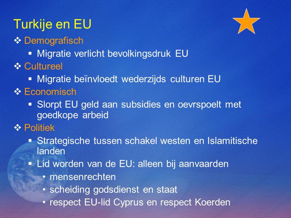 Turkije en EU Demografisch Migratie verlicht bevolkingsdruk EU