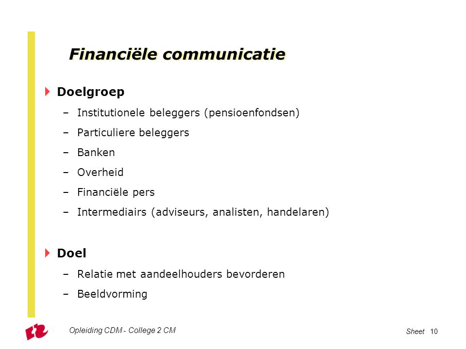 Financiële communicatie
