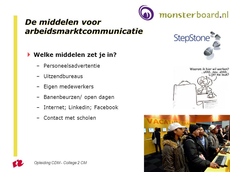 De middelen voor arbeidsmarktcommunicatie