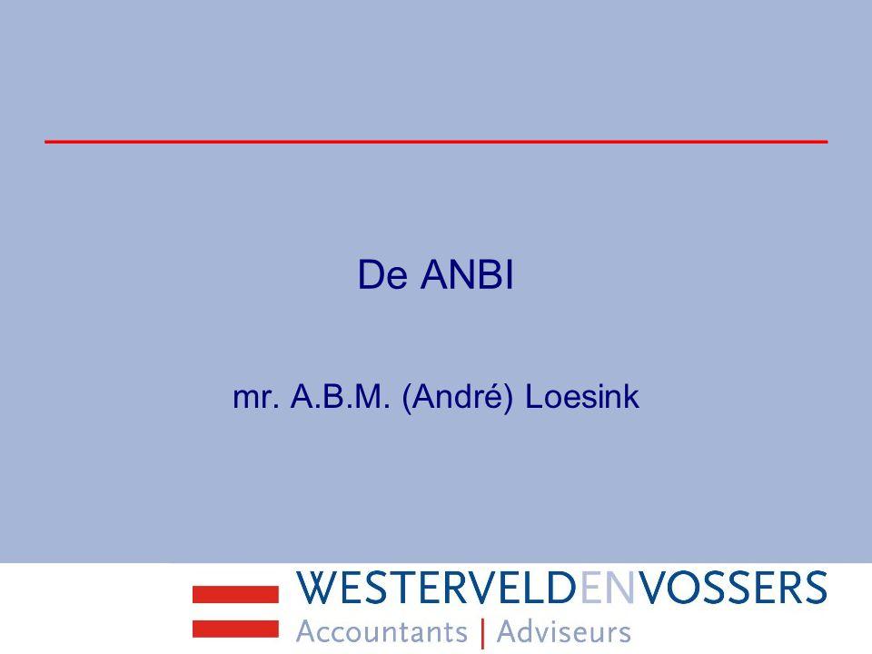 De ANBI mr. A.B.M. (André) Loesink