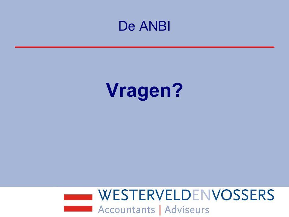 De ANBI Vragen