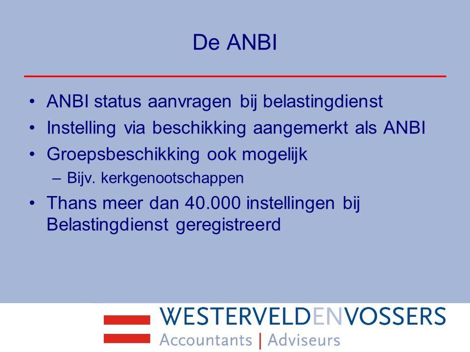 De ANBI ANBI status aanvragen bij belastingdienst