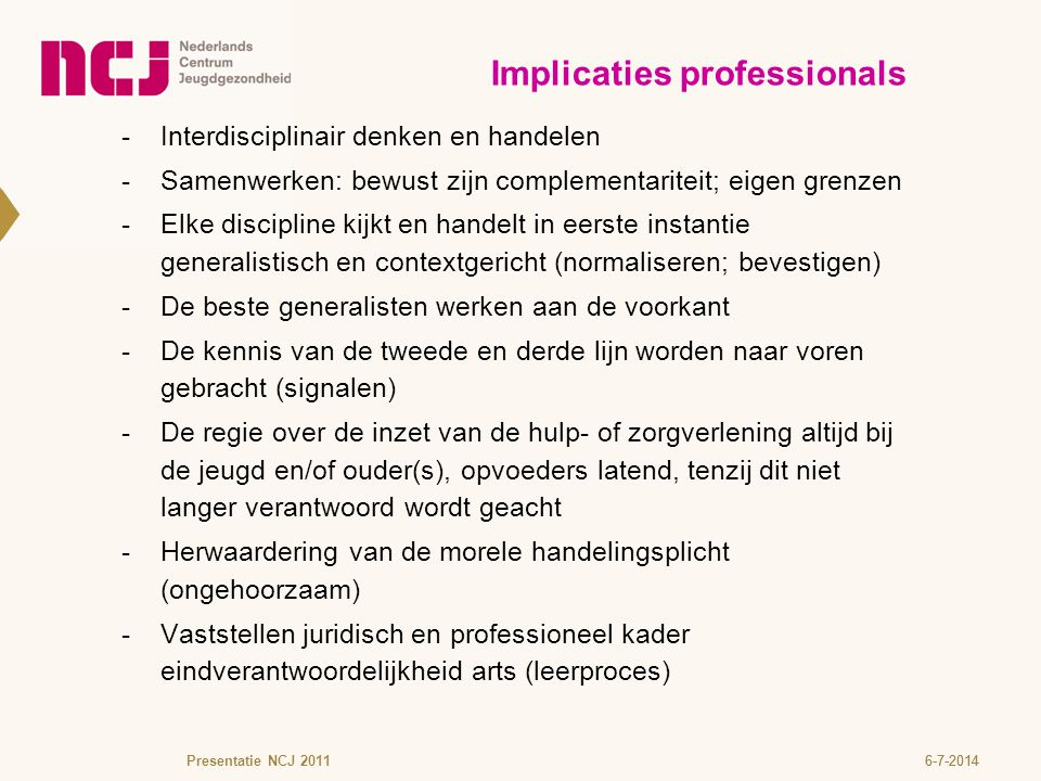 Implicaties professionals