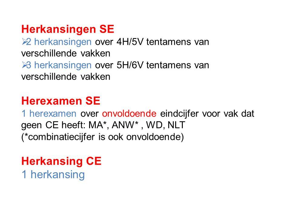 Herkansingen SE Herexamen SE Herkansing CE 1 herkansing