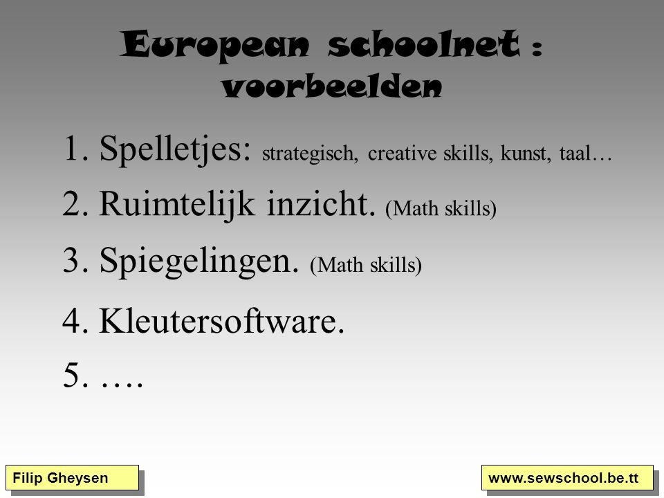 European schoolnet : voorbeelden