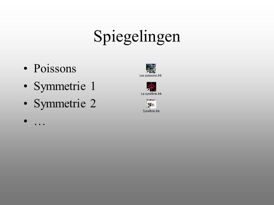 Spiegelingen Poissons Symmetrie 1 Symmetrie 2 …