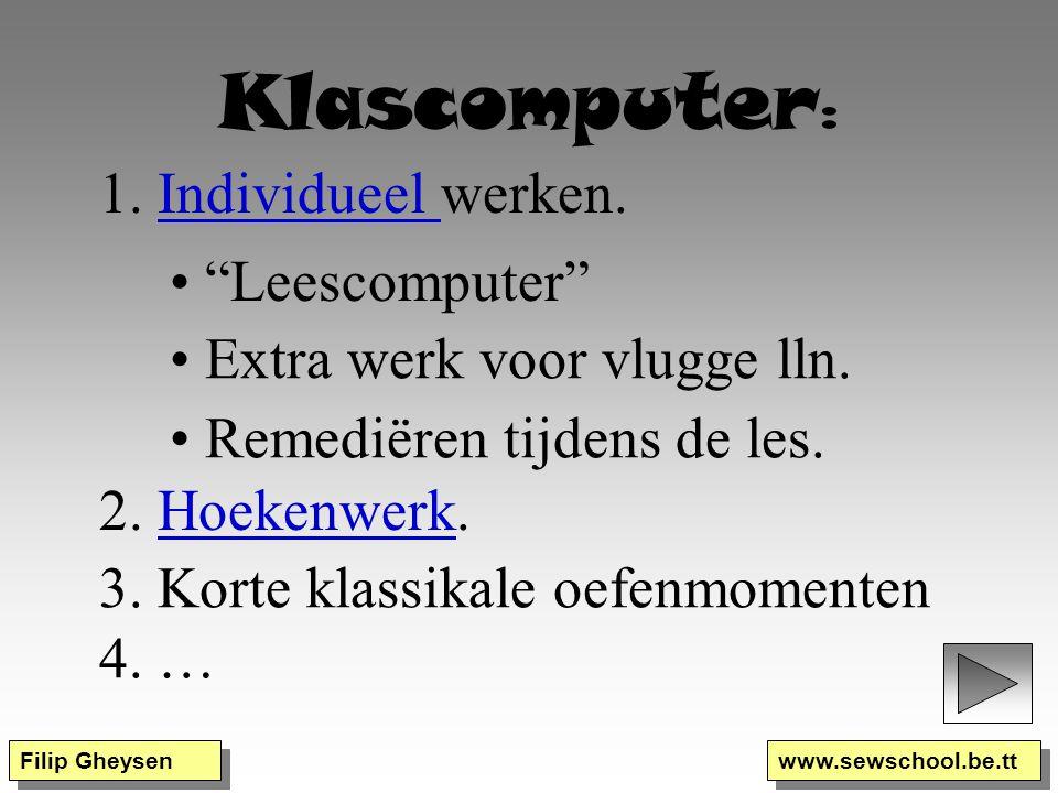Klascomputer: 1. Individueel werken. Leescomputer