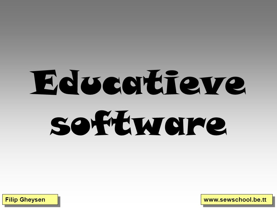 Educatieve software Filip Gheysen