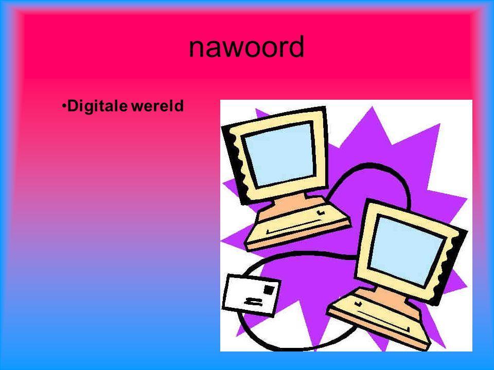 nawoord Digitale wereld
