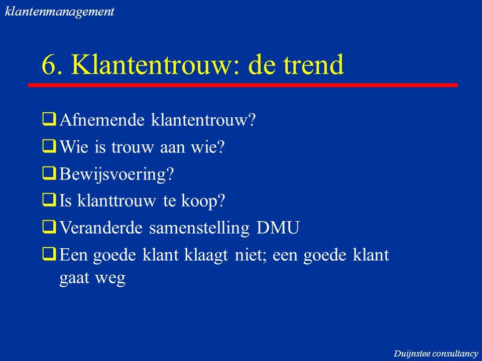 6. Klantentrouw: de trend
