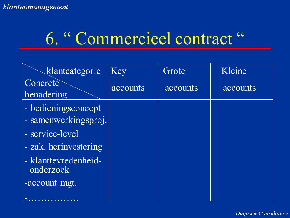 6. Commercieel contract