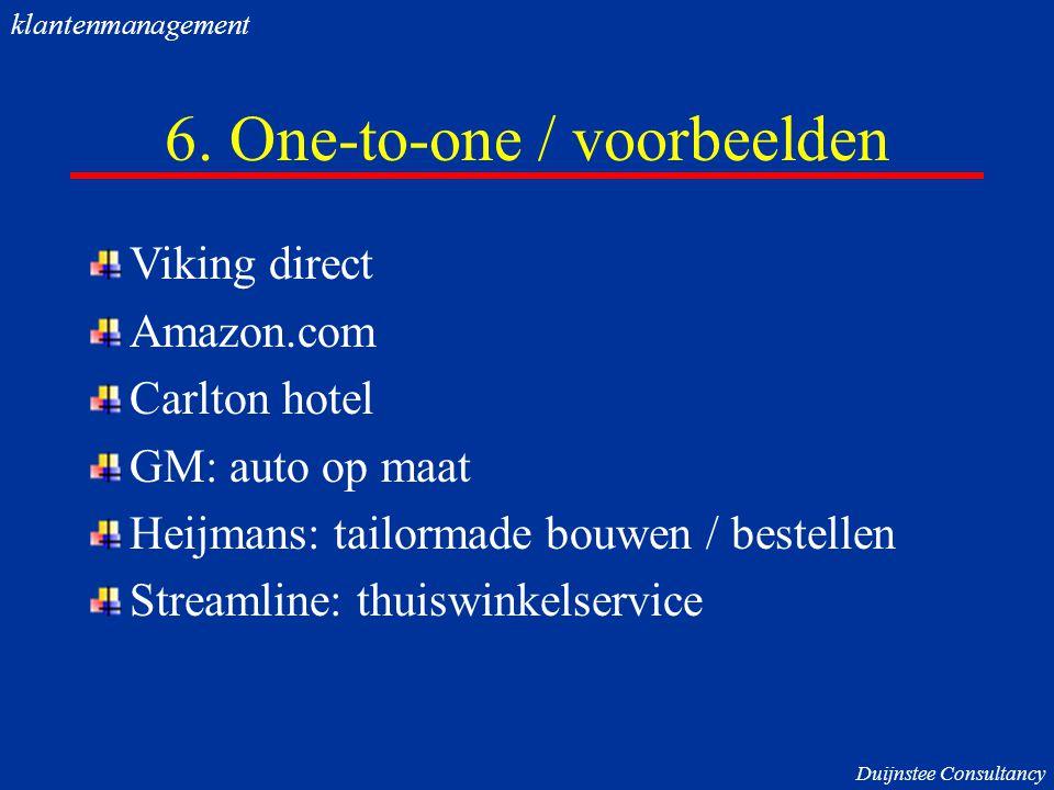 6. One-to-one / voorbeelden