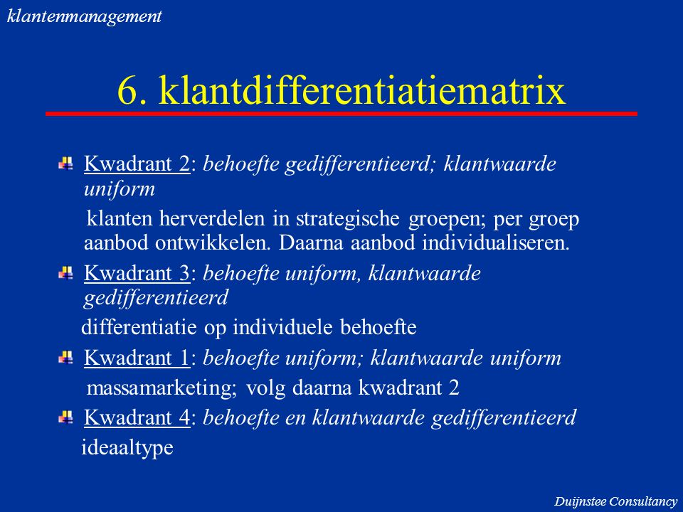 6. klantdifferentiatiematrix