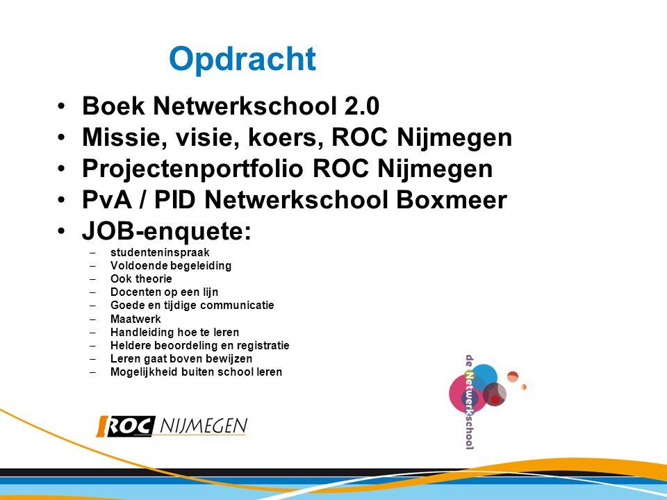 Opdracht Boek Netwerkschool 2.0 Missie, visie, koers, ROC Nijmegen