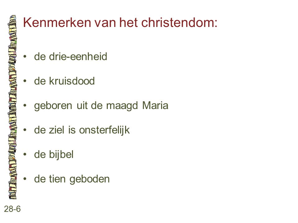 Kenmerken van het christendom: