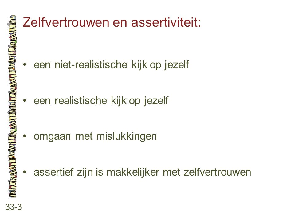 Zelfvertrouwen en assertiviteit: