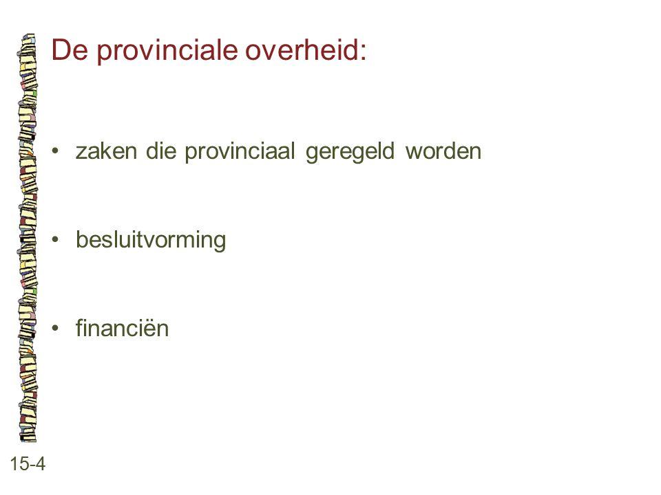 De provinciale overheid: