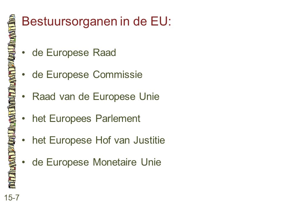 Bestuursorganen in de EU: