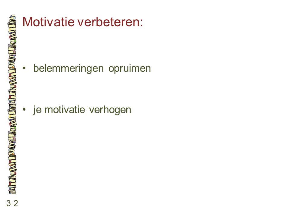 Motivatie verbeteren: