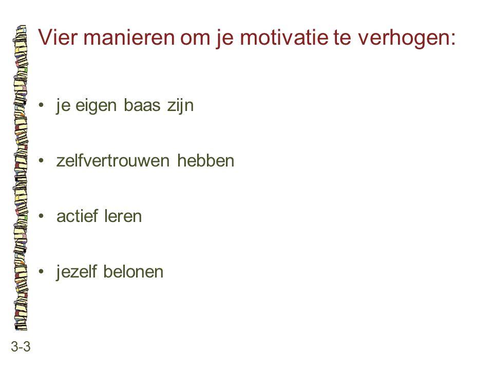 Vier manieren om je motivatie te verhogen: