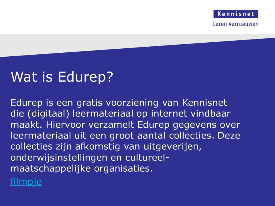 Wat is Edurep