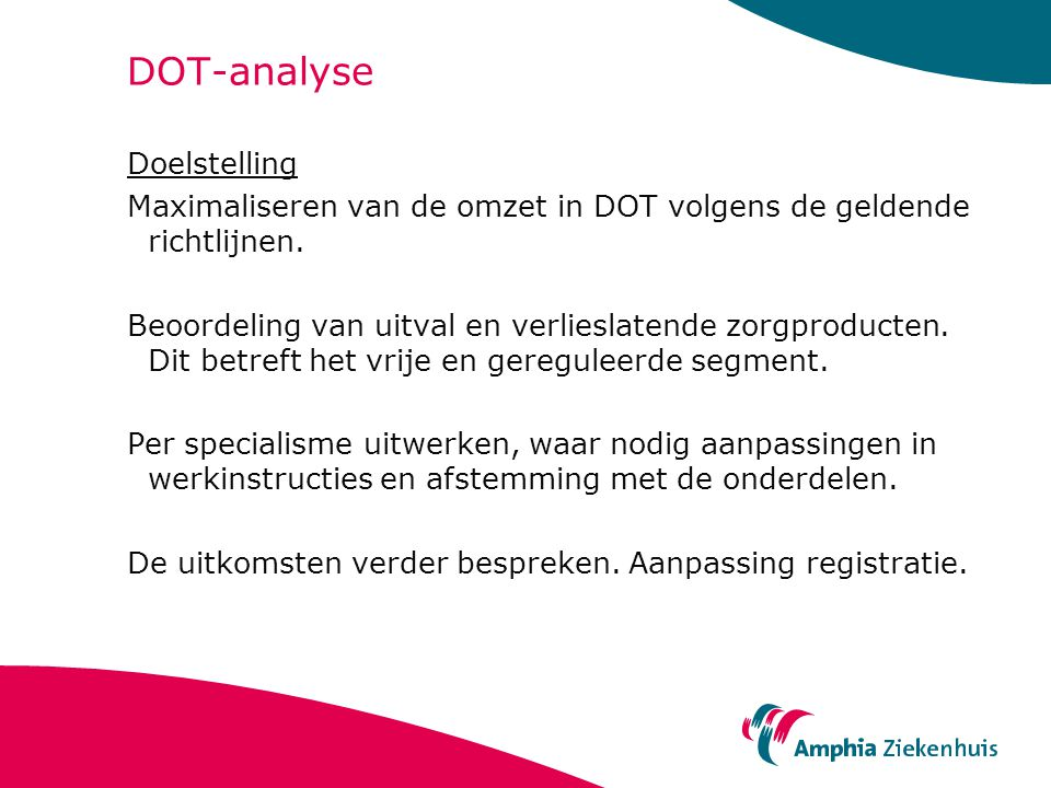 DOT-analyse Doelstelling