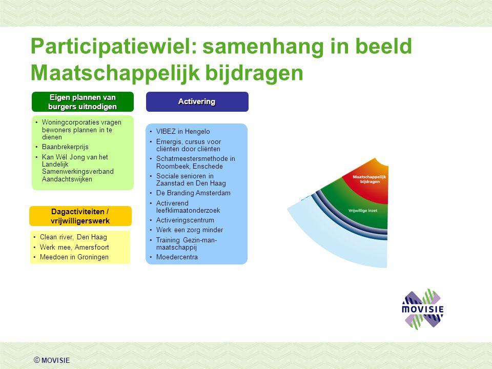Participatiewiel: samenhang in beeld Maatschappelijk bijdragen