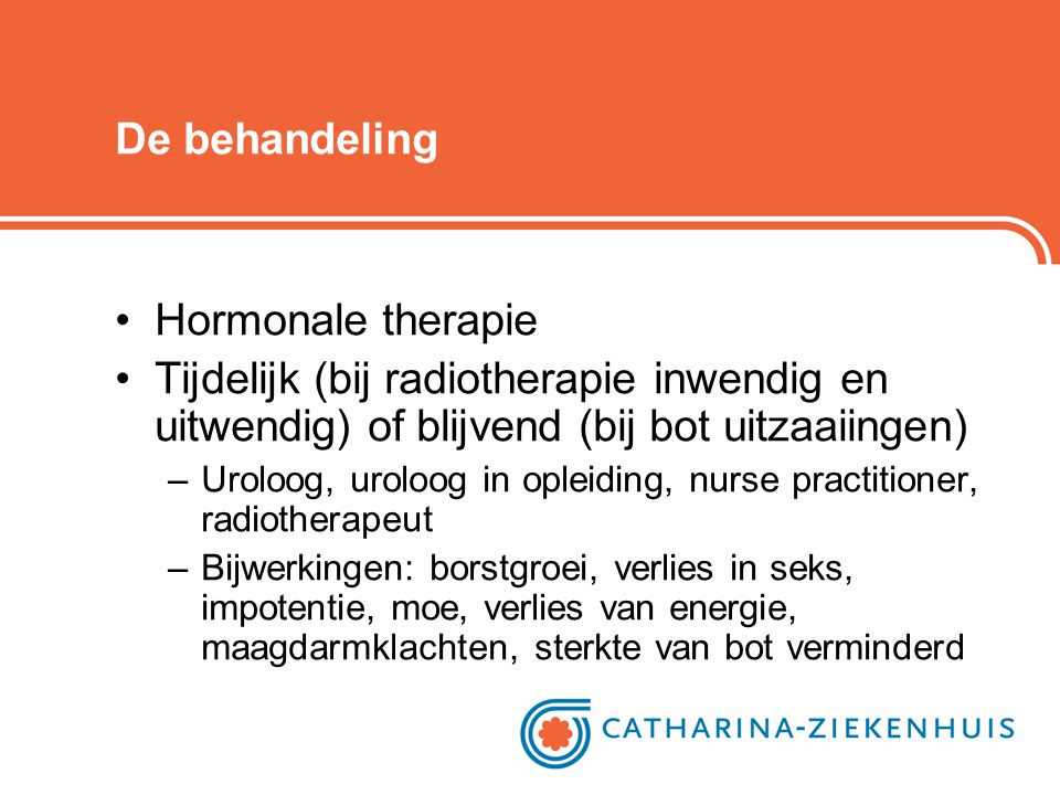 De behandeling Hormonale therapie