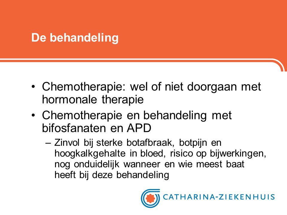 Chemotherapie: wel of niet doorgaan met hormonale therapie