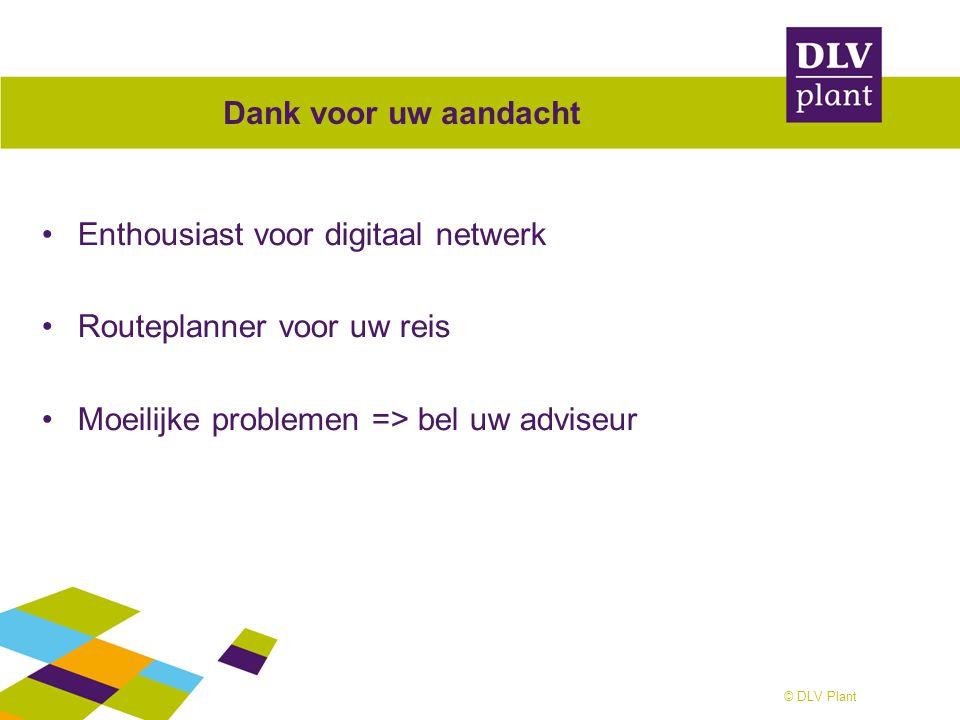 Dank voor uw aandacht Enthousiast voor digitaal netwerk.