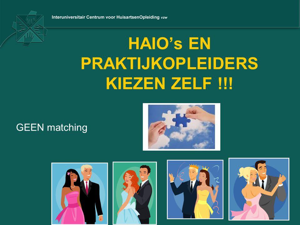 HAIO's EN PRAKTIJKOPLEIDERS KIEZEN ZELF !!!