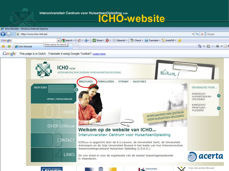 ICHO-website