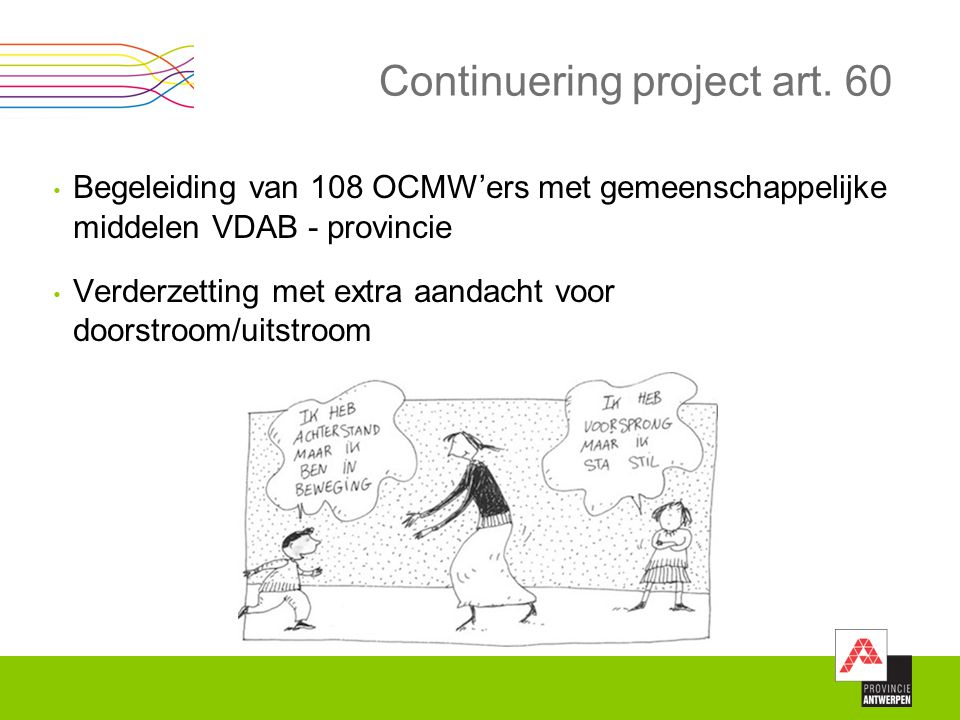 Continuering project art. 60