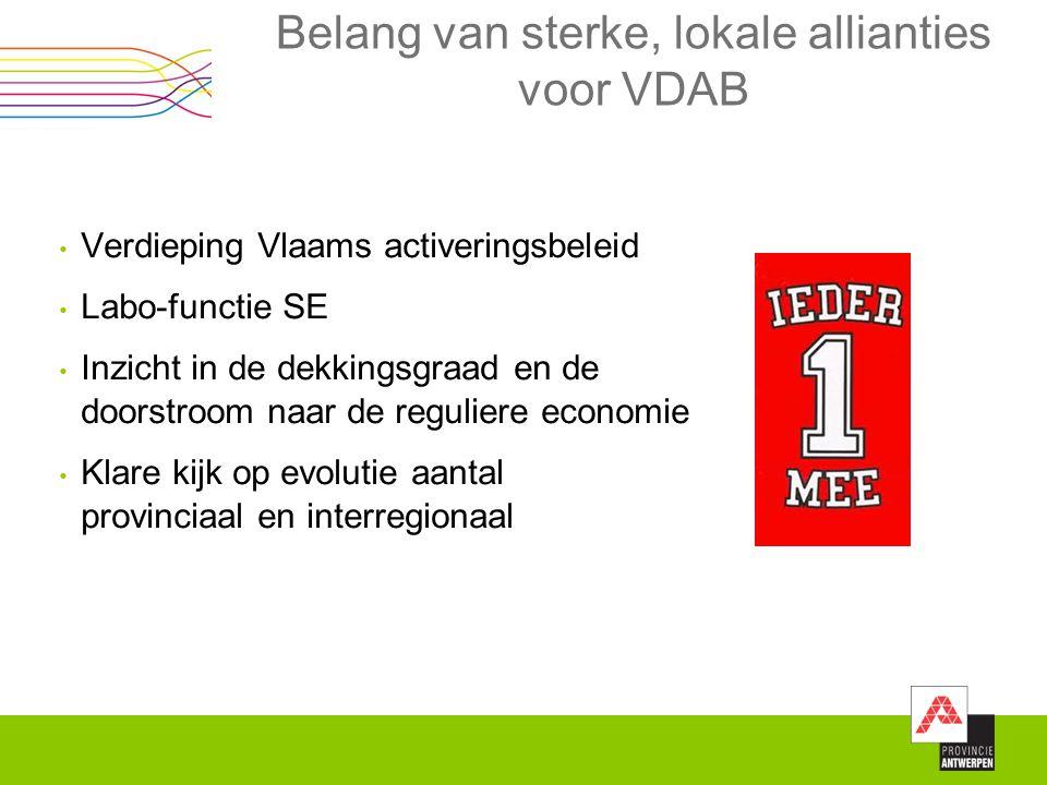 Belang van sterke, lokale allianties voor VDAB