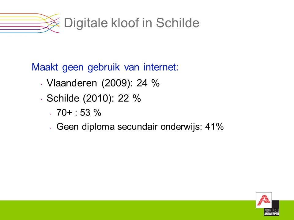 Digitale kloof in Schilde